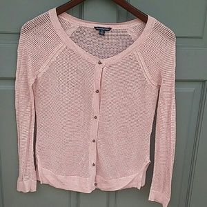 American Eagle Outfitters crochet cardigan